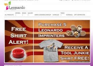 Leonardo Lampwork eCommerce Website