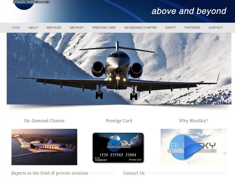 Blue Sky Jets Website