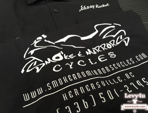 Smoke and Mirrors Embroidered Work Shirts